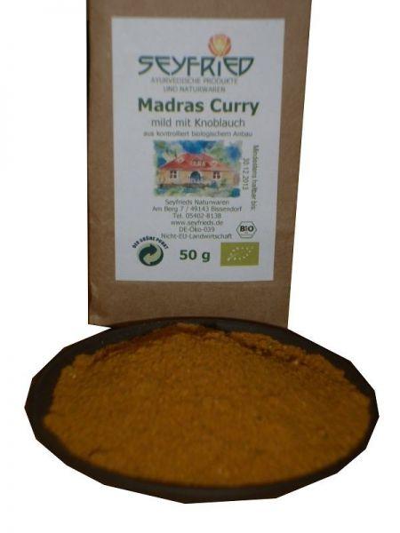 Madras Curry mild mit Knoblauch