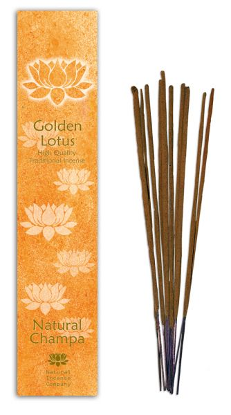 Natural Champa - Golden Lotus Incense 10 Stk