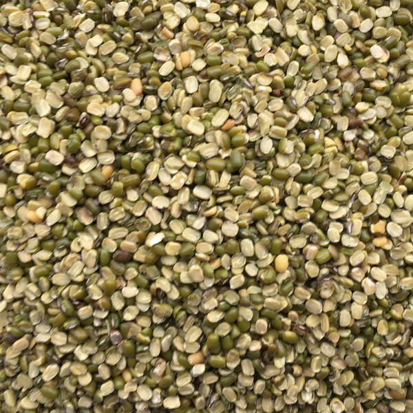 Mung Dal Chilka grün - Mungbohnen gespalten
